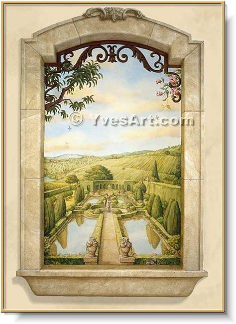 trompe l oeil window murals by yves lanthier