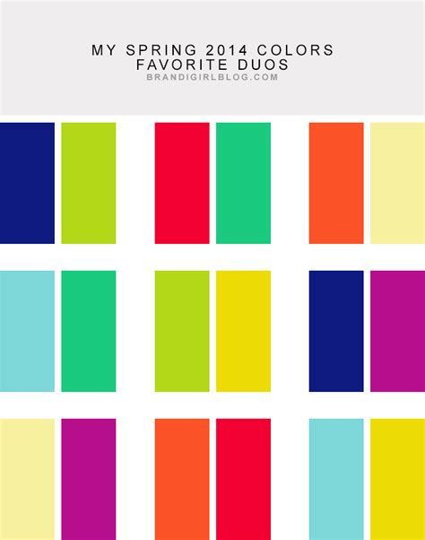 great color combinations my 2014 colors duos wardrobe colours in 2019