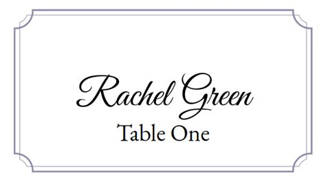 place card     easy printable place card maker