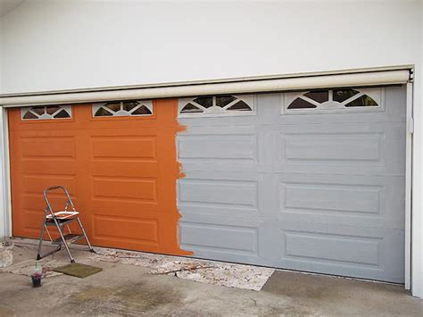 orange base coat color garage door everything i create paint garage doors to like