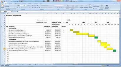 Planning Excel Maken Opmaak Automatische Werken Projecten