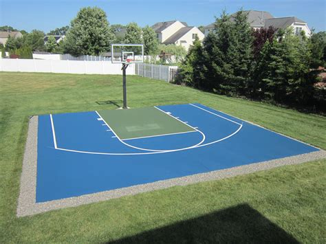 Half Court Basketball Dimensions For A Backyard by Basketball Tennis Multi Use Courts L Deshayes