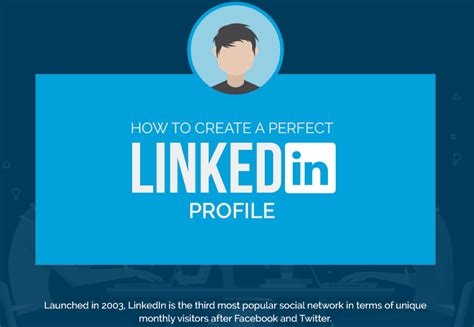 18 Tips To Create A Perfect Linkedin Profile (infographic