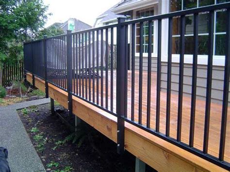 steel deck handrails 25 best ideas about metal deck railing on
