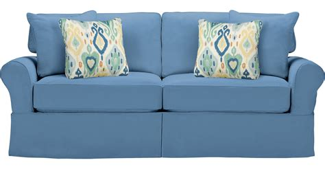 Blue Sleeper Sofa by Beachside Blue Sleeper Sofa Casual Cotton
