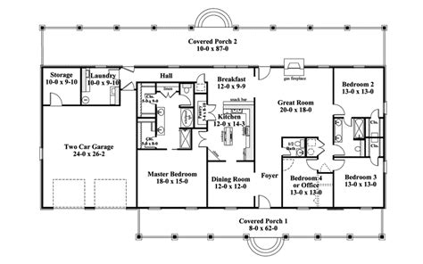one story ranch style house plans traditional house plan first floor 028d 0072 house plans