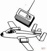 Flugzeug Flieger Spielsachen Telecommande Ausdrucken Malvorlagen Ausmalen Dieses sketch template