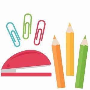 School Supply Set SVG scrapbook cut file cute clipart ...
