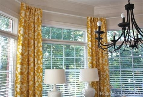 how to hang curtains on angled windows sewing