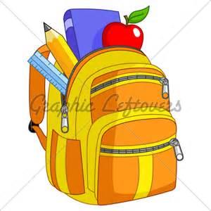 Pack Up Backpack Clip Art