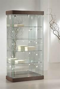 Meuble Avec Vitrine : meuble vitrine bureau design bois et blanc lepolyglotte ~ Teatrodelosmanantiales.com Idées de Décoration
