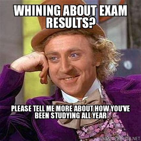 Results Day Meme - study tips from memes pondering the classroom