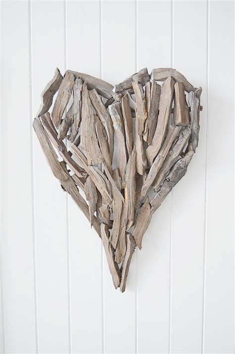 Hill interiors 27.6 inch heart wicker wall art. Driftwood Heart Wall Decor - The White Lighthouse
