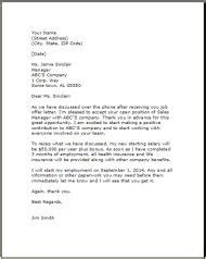 job acceptance letter templateexamplessamples  edit