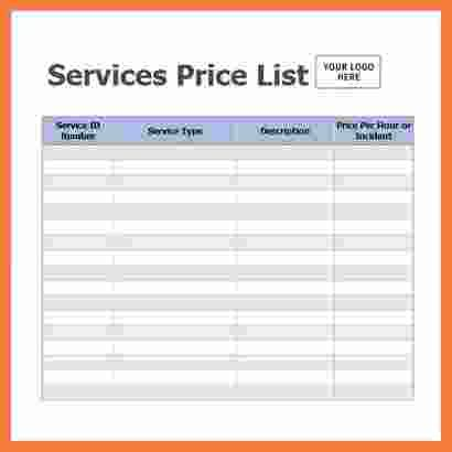 price sheet template marital settlements information