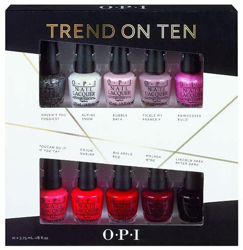 opi trend on ten sheer to the top holiday gift sets