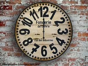 Horloge Murale Industrielle : horloge fonderie de cuivre d co industrielle antic line seb12384 ~ Teatrodelosmanantiales.com Idées de Décoration