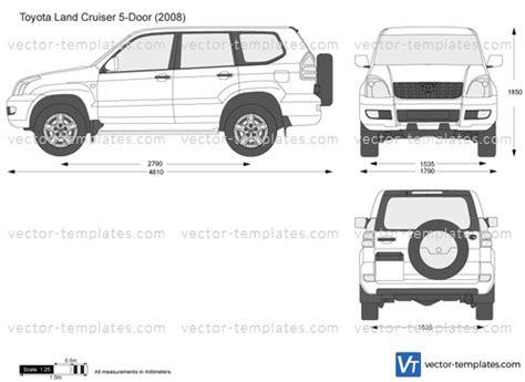 templates cars toyota toyota land cruiser  door