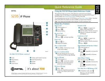 Discover the magic of the internet at imgur, a community powered entertainment destination. Mitel 5310 and 5235 Quick Reference Guide.pdf - BTL ...