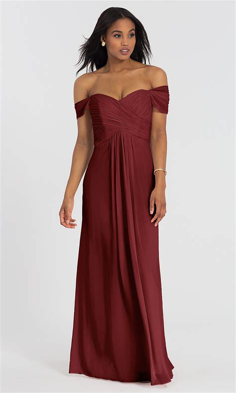 dessy collection 2844 long bridesmaid dress