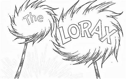 Lorax Truffula Tree Clipart Coloring Clip Fish