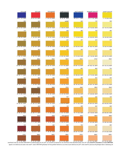 rgb color chart template   templates   word