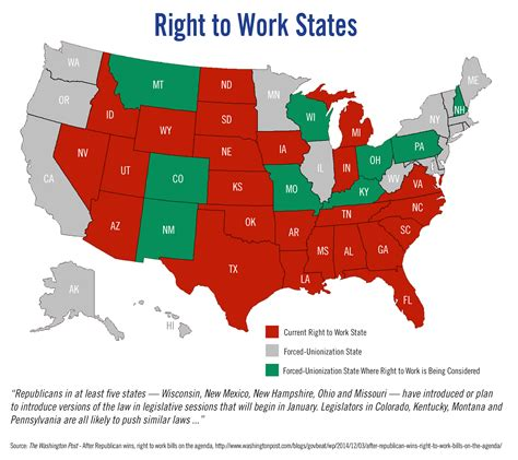 bureau of labor statistics right to work is right for wisconsin wmc