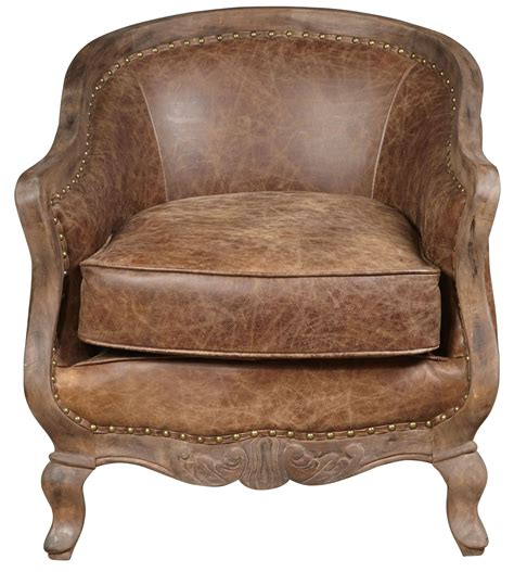 Sloane Brown Leather Accent Chair, P006206, Pulaski