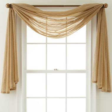 Pennys Curtains Valances by Scarf Valance Picture Window Treatments