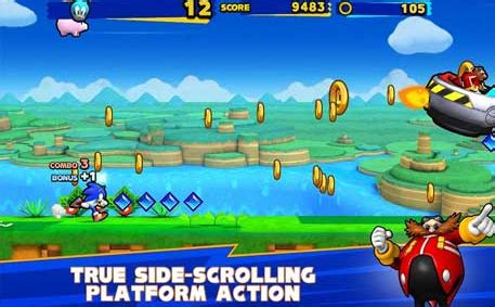 sonic runners adventure full mod apk   android