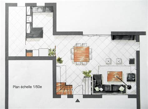 plan salon cuisine sejour salle manger plan salon salle à manger cuisine cuisine en image