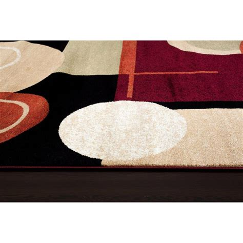 Abstract Black Rug by Rugs Tobis Abstract Black Rust Area Rug Reviews