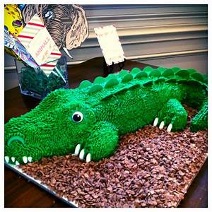 1000 images about ali39s first birthday on pinterest With crocodile birthday cake template