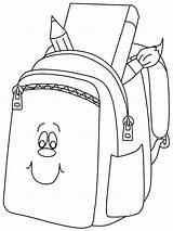 Coloring Backpack Pages Bookbag Drawing Books Smilling Printable Getdrawings Dora sketch template