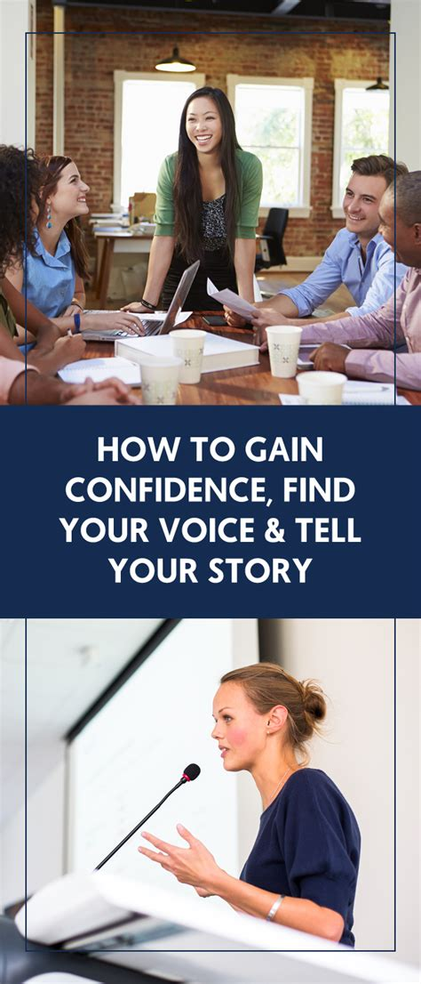 how to gain confidence find your voice tell your story the wellness business hub