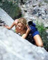 Female Rock Climbing
