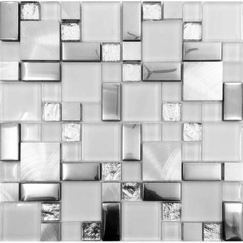 Glass Bathroom Tiles Ideas by Silver Metal And Glass Tile Backsplash Ideas Bathroom