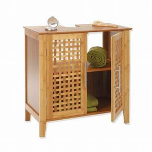 Meuble Dessous De Lavabo : meuble dessous lavabo bambou dessous lavabo eminza ~ Melissatoandfro.com Idées de Décoration
