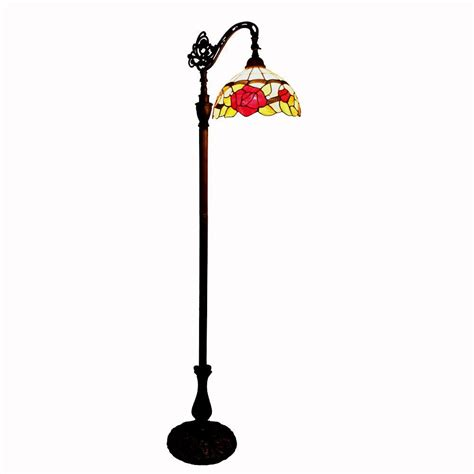 amora lighting 62 in tiffany style roses reading floor