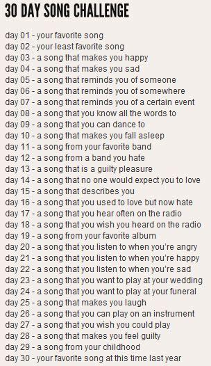 Grae New York 30 Day Song Challenge  Days 1115