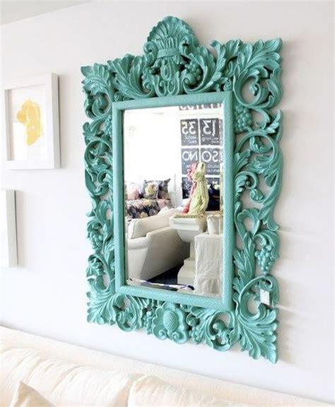 decorando espejos ideas  manualidades turquoise