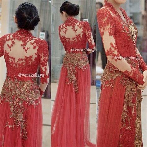 verakebaya kebaya pernikahan pakaian wanita bunga