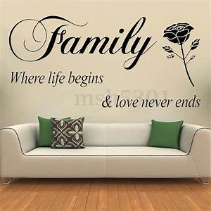 removable quote family lettering wall stickers vinyl art With vinyl letters for walls removable
