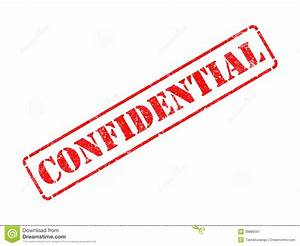 Confidential On Red Rubber Stamp. Stock Image - Image of ...