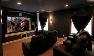 Movie Room in Castle Rock Basement Finish - Eclectic