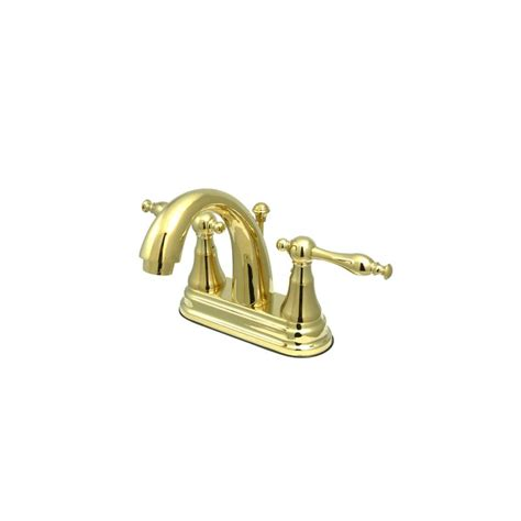 kingston brass faucets made in usa faucet ks7612nl in polished brass by kingston brass