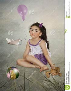 Girl With Teddy Bear Stock Photo - Image: 46727247