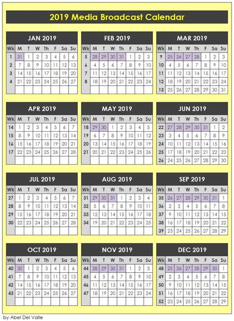 media calendars abel del valle