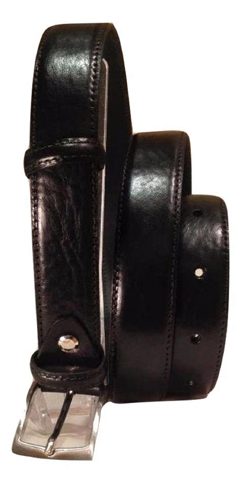 Italian Cowhide Leather by Italian Cowhide S Leather Belt With Chrome Buckle Black