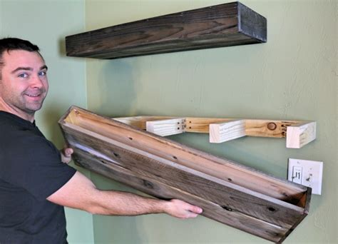 diy wood floating shelf